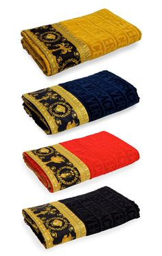 Versace Logo Jacquard Beach Towel with Baroque-Print Border Versace Towels, Versace Bathrobe, Versace Home, Versace Versace, Versace Bedding, Versace Pattern, Versace Handbags, Bedroom Wall Designs, Luxury Bedroom Design