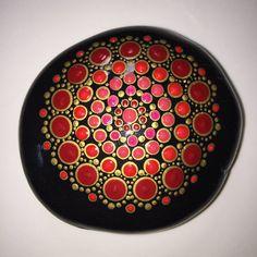 Hand Painted Mandala Stone Mandala Meditation Stone by MafaStones