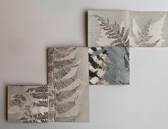 Printing, folding, pressing, cutting, stitching - making books in preparation for the Baltic Artists Book Market December & . Accordian Book, Concertina Book, Libros Pop-up, Gelli Printing, Handmade Books, Book Making, Art Plastique, Altered Books, Botanical Art