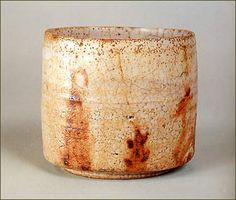 "Tea Bowl, named ""Tamagawa"" whitish glaze, Mino Ware, ceramic. Muromachi period, 16th century."