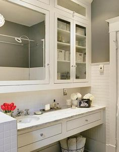 White Bathroom By Itu0027s Great To Be Home, Via Flickr Apothecary Bathroom,  Contemporary Bathroom