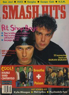 Pet Shop Boys on old cover of Smash Hits Magazine - pop band Music Magazines, Magazines For Kids, Tenacious D, Pet Shop Boys, Retro Videos, 80s Kids, 80s Music, Hit Songs, My Childhood Memories