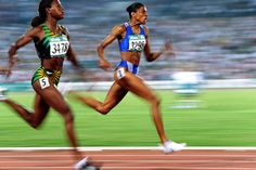 """Picto Galerie - Kempinaire Millereau Sports Pictures - album """"Olympic Games"""" Marlerne Ottey & Marie José Perec"""