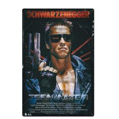Terminator (1984) Tin Signs, Wall Signs, Metal Signs, Metal Walls, Metal Wall Art, Man Cave Metal, Metal Plaque, Cult Movies, Arnold Schwarzenegger