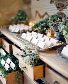 WEDDING INSPIRATION | Love this beautiful display of escort cards by @sarah_winward and @joyproctor. Photo by @josevilla