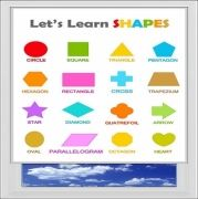 Lets Learn Shapes Digitally Printed Photo Roller Blind