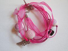 Wickelarmbänder - Wickelarmband mit Schmucketeilen zur Auswahl - ein Designerstück von kleine-Traeume bei DaWanda
