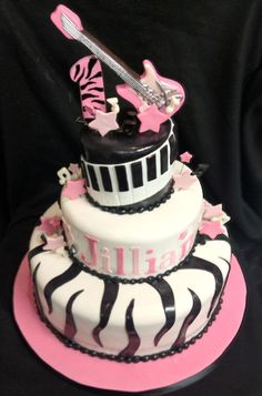 We found this rock star girl cake that would go awesome with your rock star baby shower party theme. Description from pinterest.com. I searched for this on bing.com/images