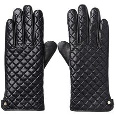 Witchery Quilted Leather Gloves ($69) ❤ liked on Polyvore featuring accessories, gloves and quilted leather gloves