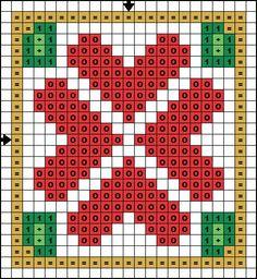 Christmas Hearts Biscornu pattern