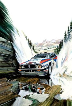 🤝 Do you remember the old - a real rally? The time of real iron monsters and stone people! 👀 Check us out 🔰 . Auto Poster, Car Posters, Car Illustration, Illustrations, Lancia Delta, Garage Art, Automotive Art, Automotive Group, Car Drawings
