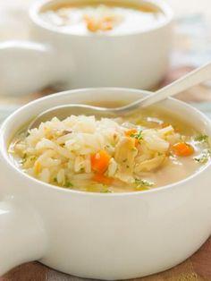 Soupe au riz et aux légumes : Recette de Soupe au riz et aux légumes - Marmiton