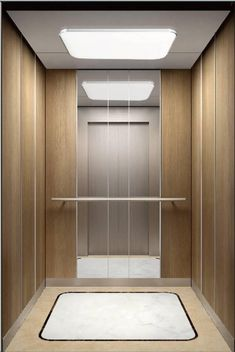 China Customized Wood Passenger Elevator Manufacturers and Suppliers - Factory Direct Price - SAFE ELEVATOR Modern Interior Design, Interior Architecture, Elevator Lobby Design, Lift Design, Design Design, House Design, Wood Cladding, Small Hallways, Architrave