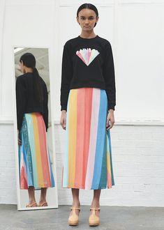 Penelope Classic Rainbow Sequin Skirt - Olivia Rubin