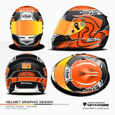 Mathieu Guillotin helmet design project. Arai SK6. ©2016 - K.ROSSI - All rights reserved.