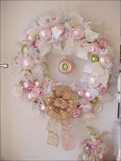 xmas pink white wreath cameo focal1 by Enchanted Rose Studio, via Flickr