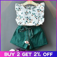 New Style Short Sleeve T-Shirt + Pants Dress Children Clothing .-New Style Kurzarm T-Shirt + Hosen Kleid Kinder Kleidung Anzüge New Style Short Sleeve T-Shirt + Pants Dress Children Clothing Suits, # # Suits - Girls Summer Outfits, Little Girl Outfits, Little Girl Fashion, Baby Outfits, Little Girl Dresses, Kids Fashion Summer, Baby Girl Clothes Summer, Dress Girl, Cute Outfits For Kids