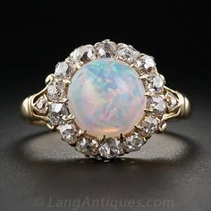 Victorian Opal and Diamond Ring - 30-1-5354 - Lang Antiques