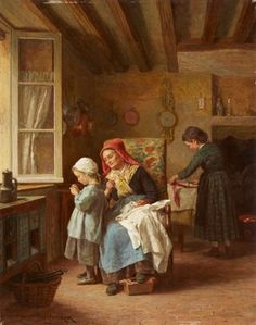 Théophile Emmanuel Duverger - The threading of the needle