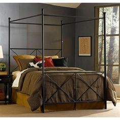 This King-size Metal Canopy Bed in Matte Black Finish blends traditional design with contemporary elegance. Also, it is constructed of a sturdy powdercoated tubular steel frame.
