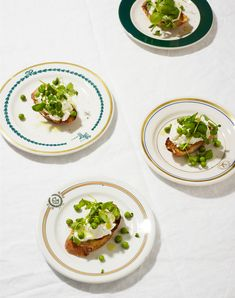 A slice of crusty toasted bread, a generous pillow of whipped ricotta (we prefer the homemade or, if store-bought, the Salvatore Bklyn variety), and a pile of sweet peas and their shoots amounts to what we like to think of as the trifecta of snacking. You'll find it appropriate for nibbling morning, noon and night.