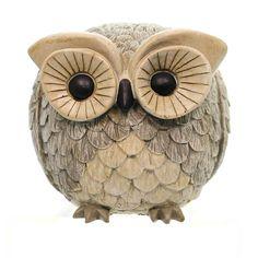 Home & Garden Owl Garden Statue Pudgy Pals Outdoor Decor