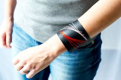 DIY-Embroidered-Leather-Cuff-by-Penelope-And-Pip