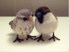 To: Needle Felted Birds Try your hand at needle felting, and make these birds with tutorial from Joe & Cheryl.Try your hand at needle felting, and make these birds with tutorial from Joe & Cheryl. Wool Needle Felting, Needle Felting Tutorials, Needle Felted Animals, Wet Felting, Felt Animals, Felted Wool, Felted Scarf, Wooly Bully, Felt Birds