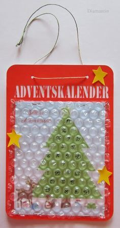 Adventskalender Luftpolsterfolie