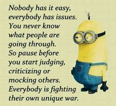 Truer words have never been spoken but still gonna place it with my minions under just for fun Cute Quotes, Great Quotes, Funny Quotes, Crazy Quotes, Funny Minion Memes, Minions Quotes, Faith Quotes, Wisdom Quotes, Inspiring Quotes About Life