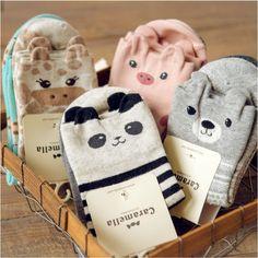 Stretchy Caramella Kawaii Animal Socks for Women (2 Pairs)