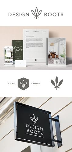 Design Roots branding, logo, signage design | Flourish Collaborative