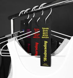 Label hangers with days of the week to organize your pre-planned outfits. // 29 Morning Shortcuts That Will Save You Time