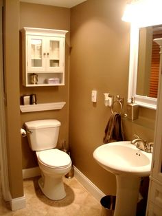 Tan tile with grey walls for the home pinterest for Best bathroom designs small space