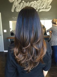 Audra Tong At Salon Republic - Los Angeles, CA, United States. Ombré and Layered…