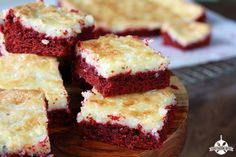Red Velvet Gooey Butter Cake and Being Grateful for Sick Days