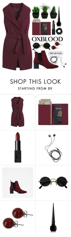 """drunk on you //"" by iamcelinenguyen ❤ liked on Polyvore featuring White House Black Market, Royce Leather, NARS Cosmetics, Diane Von Furstenberg, Zara and Lalique"