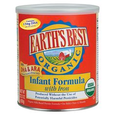 Love this formula for my baby:) Earth's Best Organic Milk-Based Infant Formula - 23.2 oz. (4 Pack)