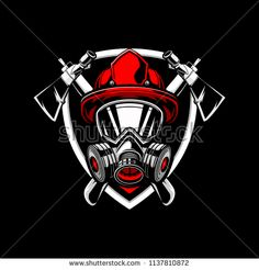 firefighters with axe and shield vector badge logo template - buy this vector on Shutterstock & find other images. Firefighter Drawing, Firefighter Logo, Firefighter Stickers, Volunteer Firefighter, Game Logo Design, Badge Design, Fireman Tattoo, Police Shield, Shield Vector