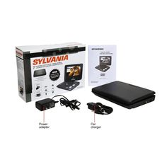 """Sylvania SDVD7029 Portable DVD Player with 7"""" Swivel Screen (Certified Refurbished)"""