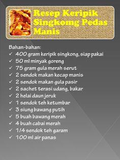 Resep Keripik Singkong Pedas