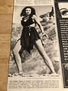 "Vintage 1940s Page - JACQUELINE DALYA / JOAN BENNETT - 10-1/4"" x 13-1/2"""