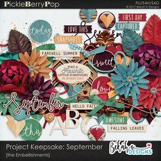 Project Keepsake: September - the Embellishments