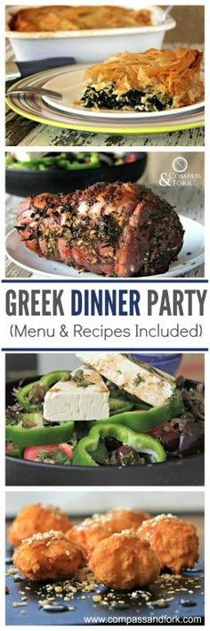 Terrific Entertaining at Home With This Greek Feast - Menu and recipes included. Have a great night in with family and friends www.compassandfork.com