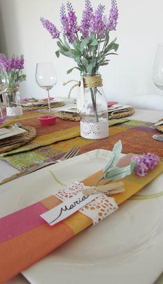 decoración de mesa en verano, lavanda