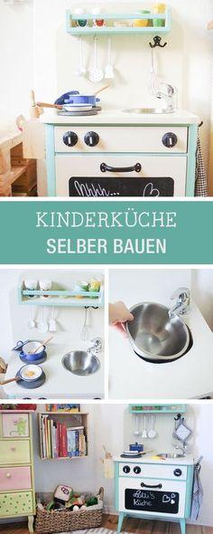 DIY-Anleitung Kinderküche aus einem alten Nachtschrank selber - küche selber bauen anleitung