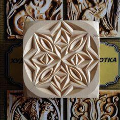 """Snowflake"" chip carving, pattern by Tatiana Baldina  https://instagram.com/tatbalcarvings"