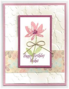 Scrappin' and Stampin' in GJ, card by Judy Garza - Avant Garden, Fluttering TIEF, Falling in Love DSP