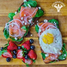 Woke up a bit early this morning and remembered I recently purchased smoked salmon so I ate it for Meal 2 (#breakfast). Smoked salmon, 1 egg, toasted whole rye bread, spinach, 2 tsp goat cheese, berries. I enjoy eating smoked salmon from time to time - it has loaded with omega 3 fatty acids and high in protein. However, it is high in sodium which is not necessarily a bad thing if you are pretty active. If you are on a sodium restricted diet for competitions or because of heart disease, I…