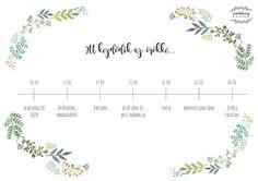 Esküvői termékek a Greenery láz jegyében! Wedding Graphics, Wedding Designs, Greenery, Blog, Watercolour